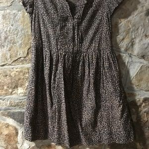 Fit and Flare animal print dress.